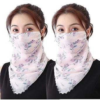 Wtouhe 2PC 𝐌𝐚𝐬𝐜𝐚𝐫𝐢𝐥𝐥𝐚𝐬 Bandana de algodón para la cara y la boca, a prueba de polvo, protección UV, múltiples capas, reutilizable, lavable, color negro para mujeres y hombres: Amazon.es: Industria, empresas y