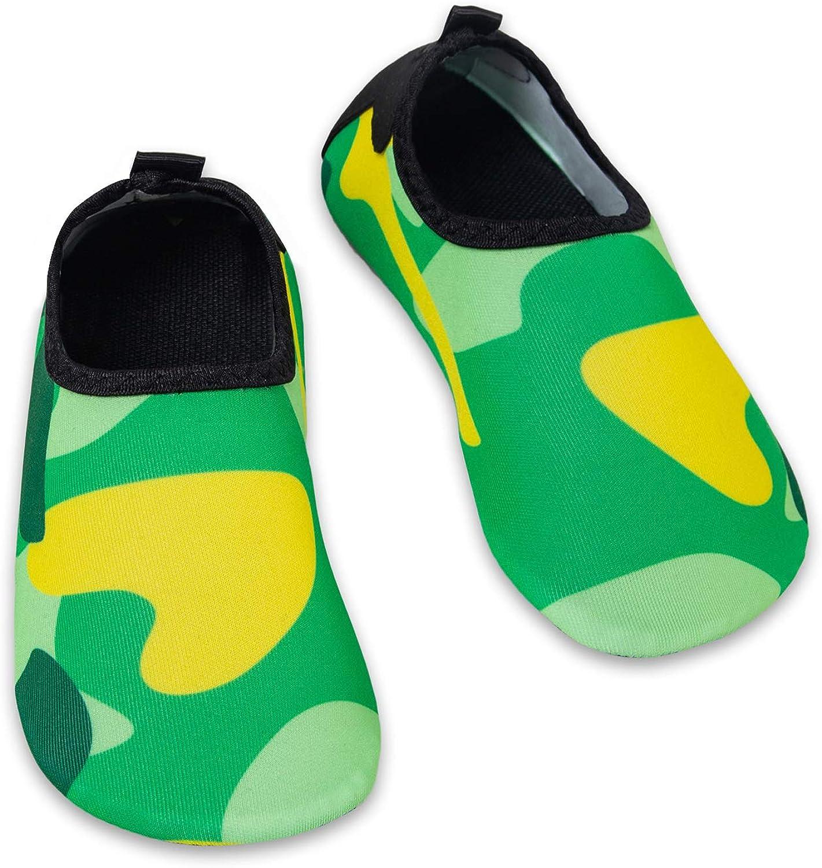 HMIYA Chaussures Aquatiques Enfants Filles Gar/çons Pieds Nus /à s/échage Rapide Chaussures deau pour Plage Piscine Surf Sport Aquatique