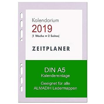 A5 Kalendereinlage 2019 Für Almadih Ledermappen A5 Terminplaner