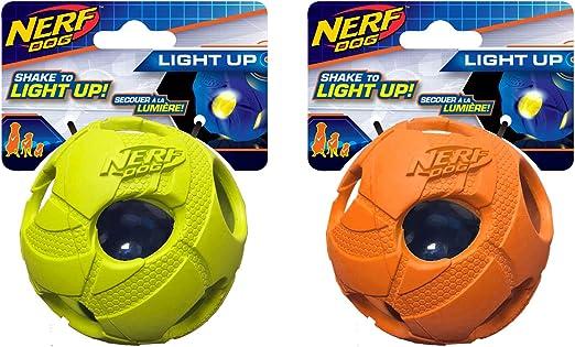 Nerf Perro Mediano Bola de Golpe de LED Luminoso Verde & Naranja ...