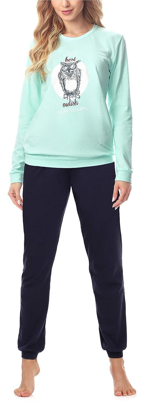 TALLA S. Merry Style Pijama Conjunto Camiseta y Pantalones Ropa de Cama Mujer MS10-167