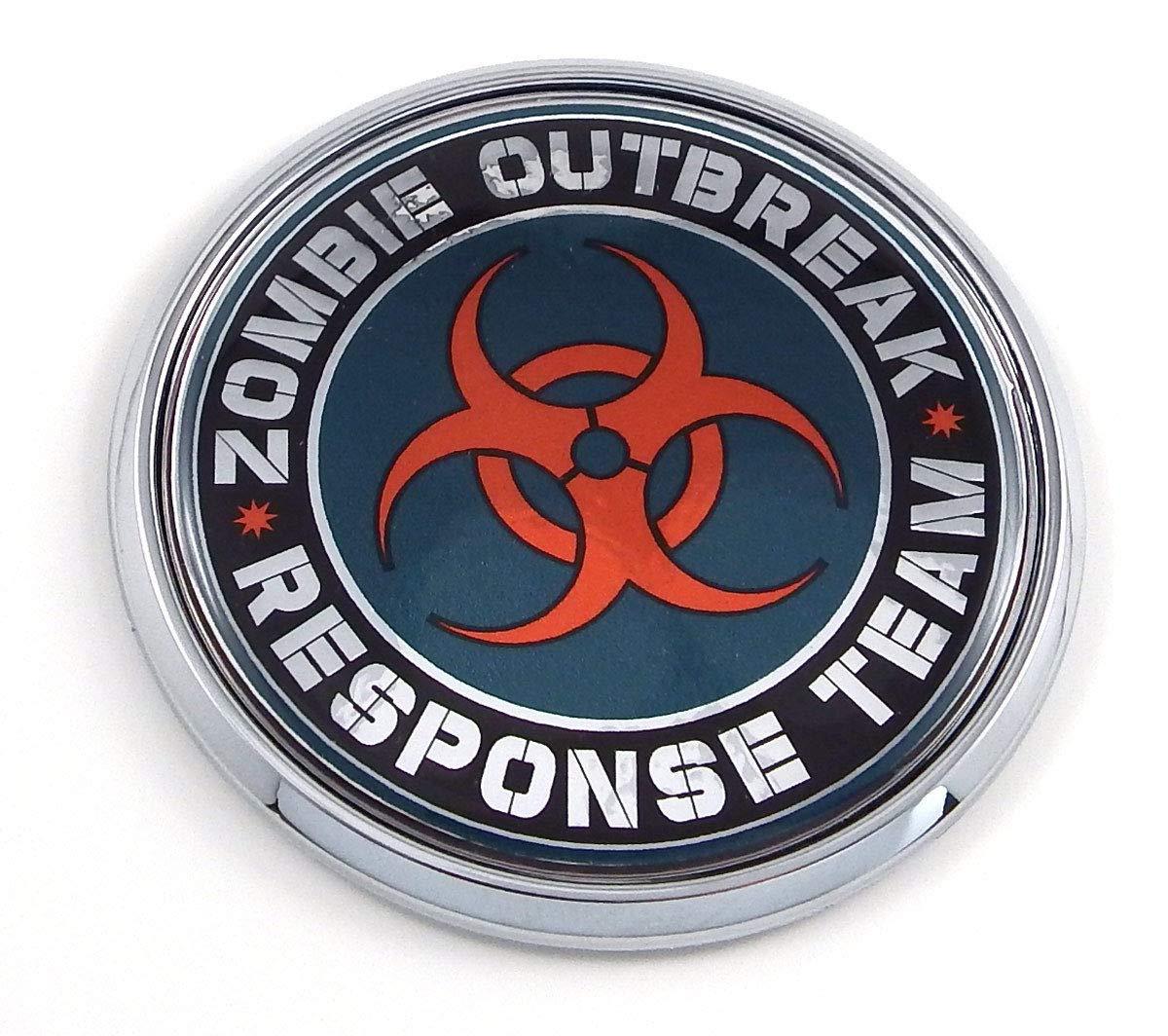 Aplique Cromo Insignia Zombie Outbreak 2.75 Round 3D