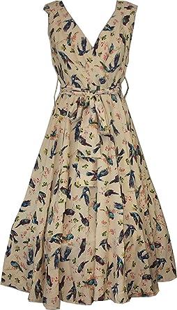 Women's Kushi Vintage Retro 50s Swing WW2Rockabilly Party/formal /prom