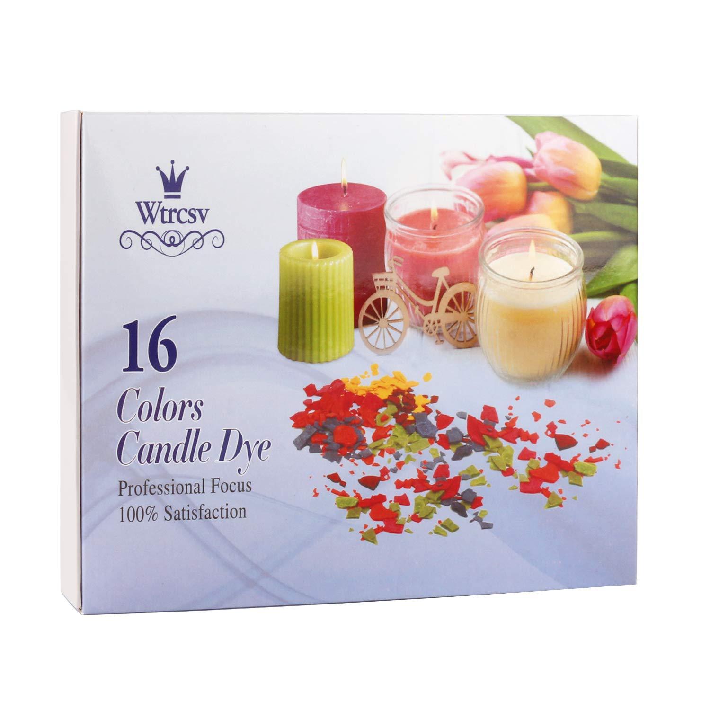 Tinte para cera de vela, gotas de tinte para hacer velas, 16 colores de tinte, 4,25 g por color: Amazon.es: Hogar