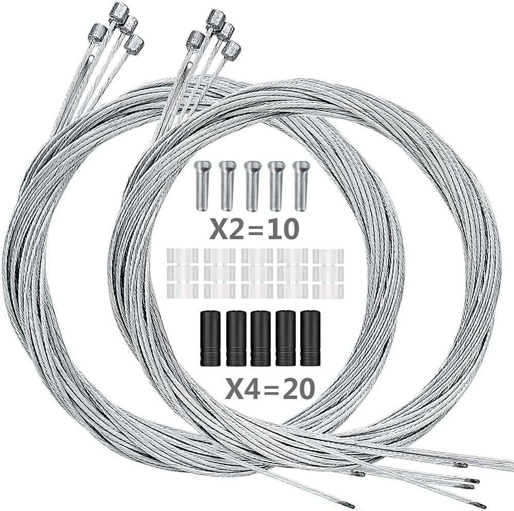 Bulk Stainless Steel Mountain BMX Bike Brake Inner Cable Wire Pushbike 10 20 50
