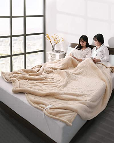 Electric Heated Blanket Queen Size 84″ x 90″