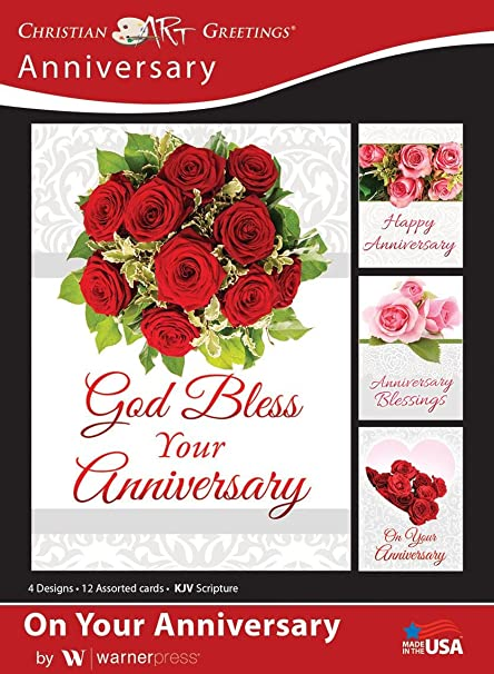 Amazon on your anniversary anniversary greeting cards kjv on your anniversary anniversary greeting cards kjv scripture box of 12 m4hsunfo