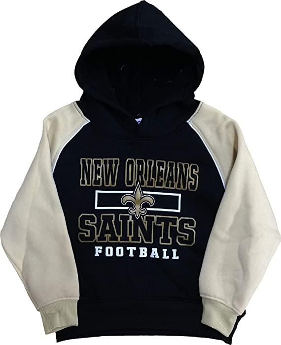 c2541d8c6 Outerstuff New Orleans Saints Infants Toddler Black Football Fleece  Pullover Hoodie (2T)