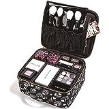ROWNYEON Makeup Bag Makeup Case Professional Makeup Travel Case Train Case Cosmetic Bag Portable Pattern Makeup Artist Bag Or