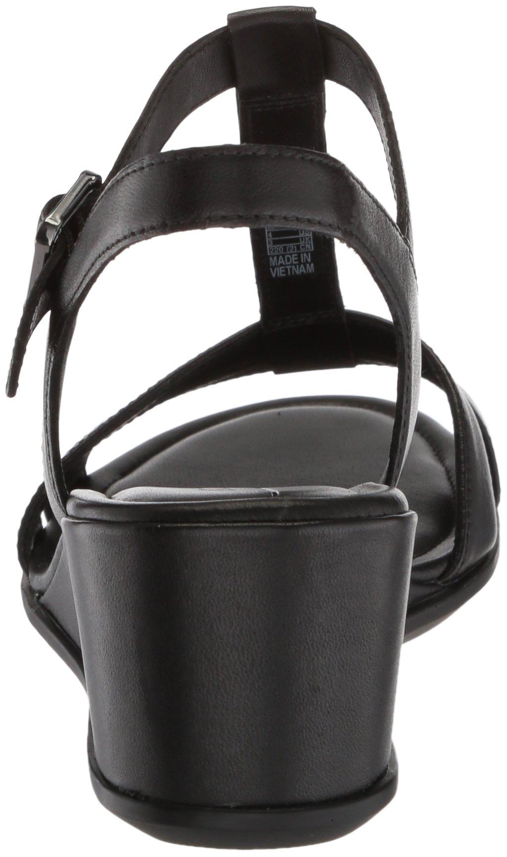 ECCO Women's Women's Shape 35 T-Strap Wedge Sandal, Black/Black, 37 M EU (6-6.5 US) by ECCO (Image #2)