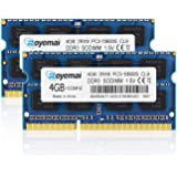PC3-10600, DDR3 1333, ROYEMAI 8GB DDR3 Kit (2x4GB) RAM DDR3 PC3 10600S DDR3 8GB 2Rx8 204-pin 1333MHZ DDR3 1.5v 4GB DDR3…