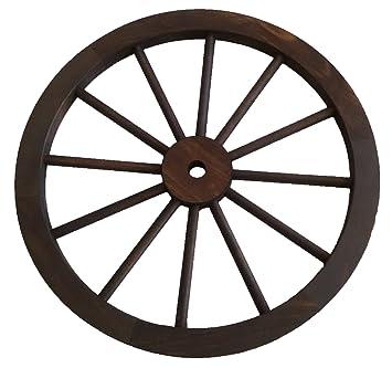 Rustiluz Rueda de carro de madera de 60 cm de diámetro: Amazon.es: Jardín
