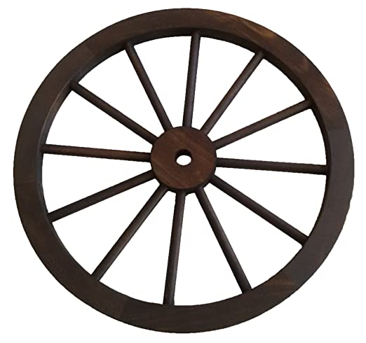 Rustiluz Rueda de Carro de Madera de 60 cm de diámetro