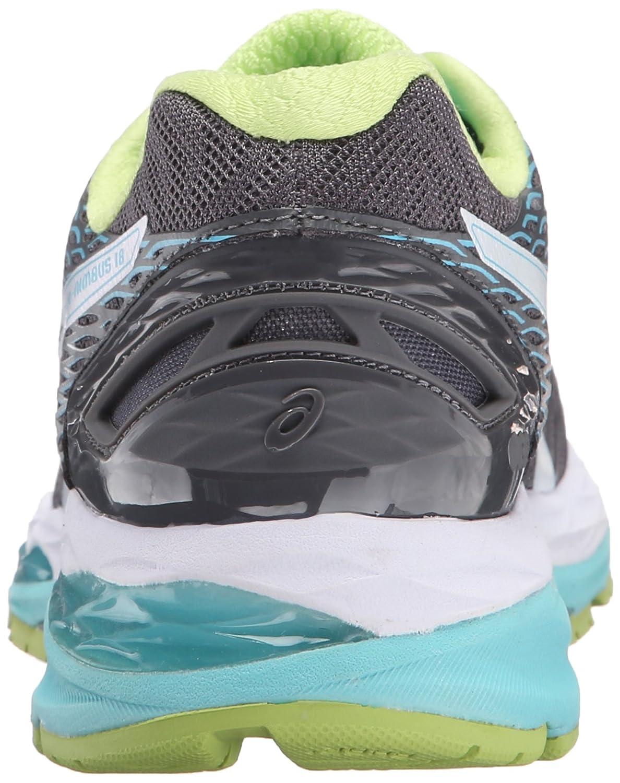 ASICS Women's Gel-Nimbus 18 B(M) Running Shoe B00YB23KGO 5.5 B(M) 18 US|Titanium/White/Turquoise 749a1b