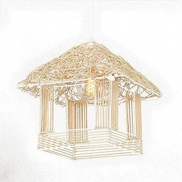 Lctcdd Holzerne Deckenleuchte Bambuslaternen Leuchter Im