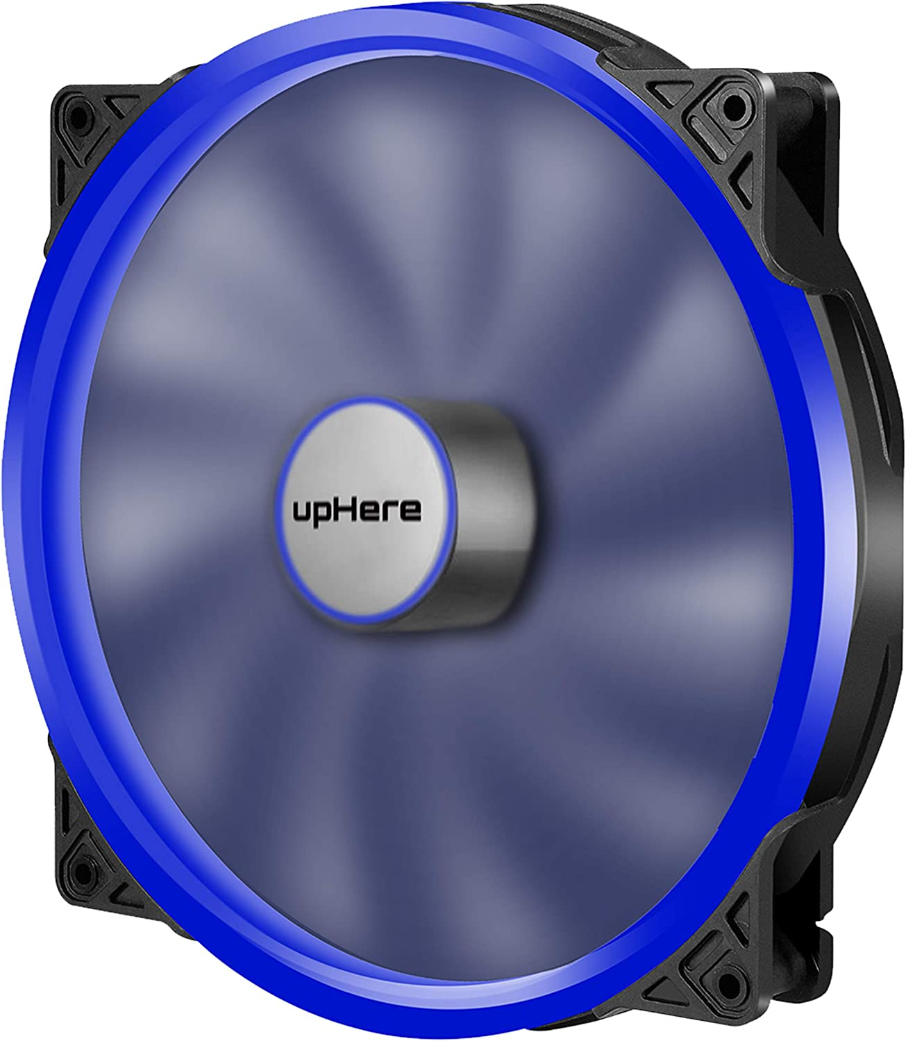 upHere P20 Series P200BE-Hydraulic Bearing 200mm Silent Blue LED Computer Case Fan,P200BE
