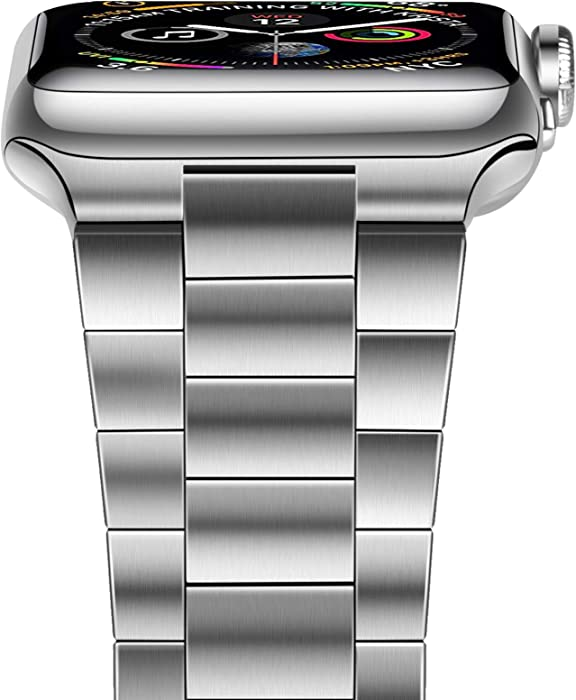 The Best Platinum  Link Stainless Steel Band For Apple