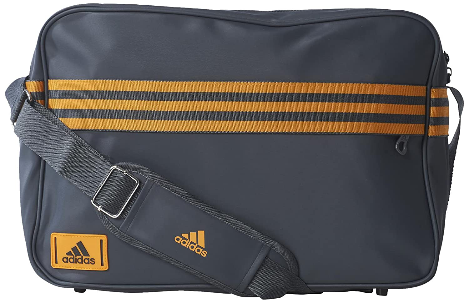 acacd2459aa9 adidas Performance Enamel 3 Stripes M Messenger Bag 41 Cm Dark Grey   Amazon.co.uk  Sports   Outdoors