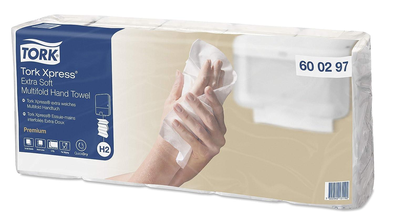 Tork Xpress 600297 Toallas de mano Premium / Toallas secamanos compatibles con el sistema H2 de Tork / 700 toallas / 2 capas / Blanco: Amazon.es: Industria, ...