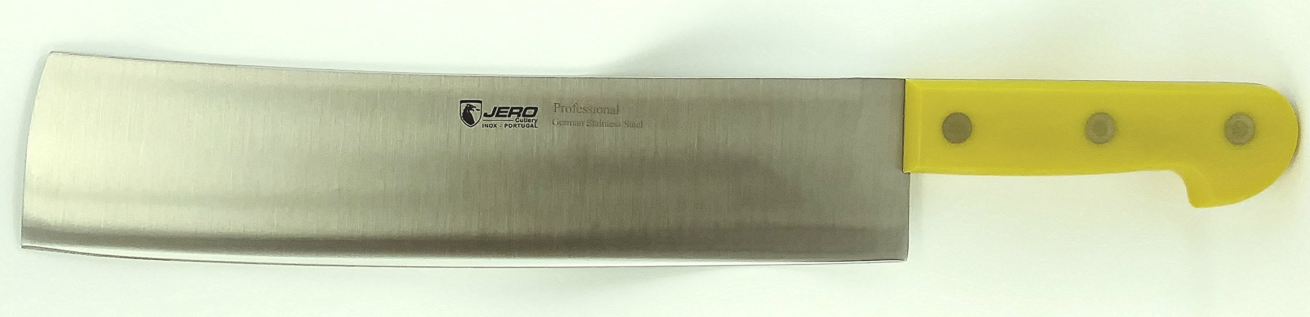 Jero Professional Matadouro Cleaver - 12.5'' Blade Length - German High-Carbon Schwerlast Stainless Steel Thick Spine Blade - Full Tang With Riveted Extreme Duty Impact Resistant Polymer Handle