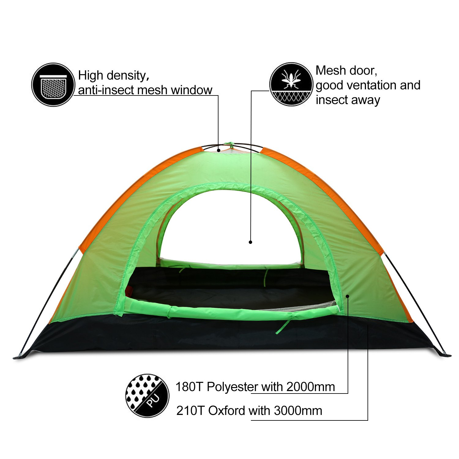 Argus Le Sale Camping Tent 2 Person 3 Season Hiking Tent, Lightweight Waterproof Backpacking Tent for Camping, Backpacking, Hiking, Outdoor Activities with Carry Bag