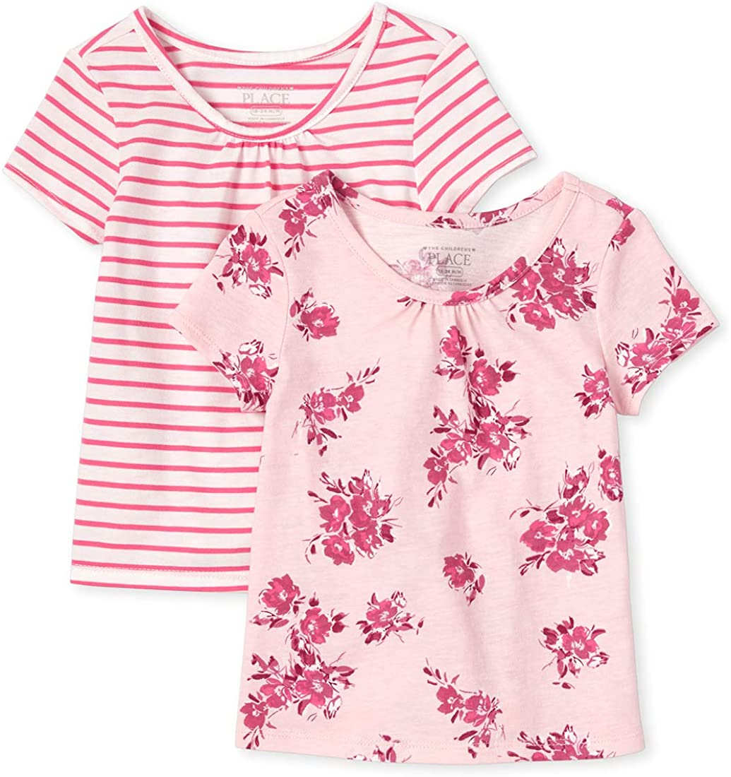The Childrens Place Baby Girls T-Shirts Pack of Two