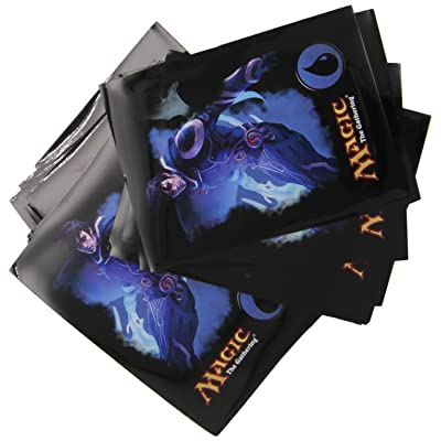 "Magic the Gathering Mana 4 Planeswalkers ""Jace - Blue"" Deck Sleeves - 80 Ct: Toys & Games"