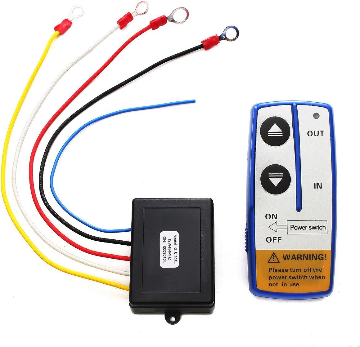 12V Electric Winch Wireless Remote Control and Receiver Kit for ATV UTV SUV 4X4 Vehicles OCPTY Remote Control