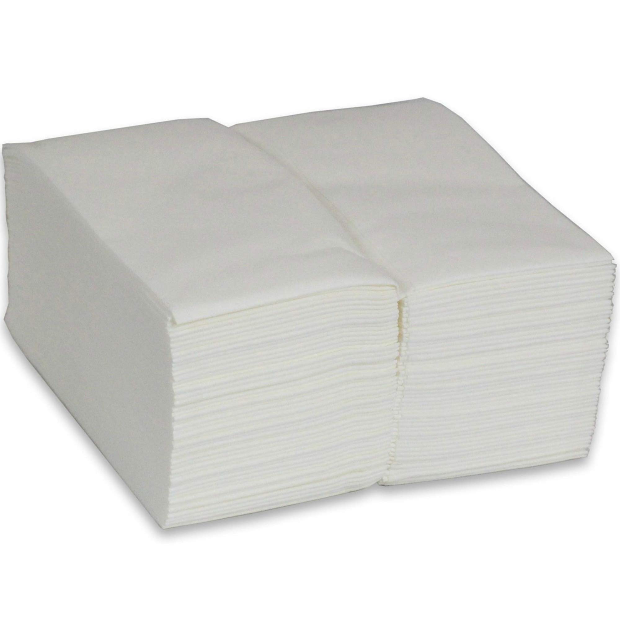 Gypsy's Cart Premium Linen Feel Disposable Guest Towels. Cloth Like Disposable Bathroom Napkins. 1/6 Multifold. (100 Pack) Multi-Use. Kitchen and Bathroom. White