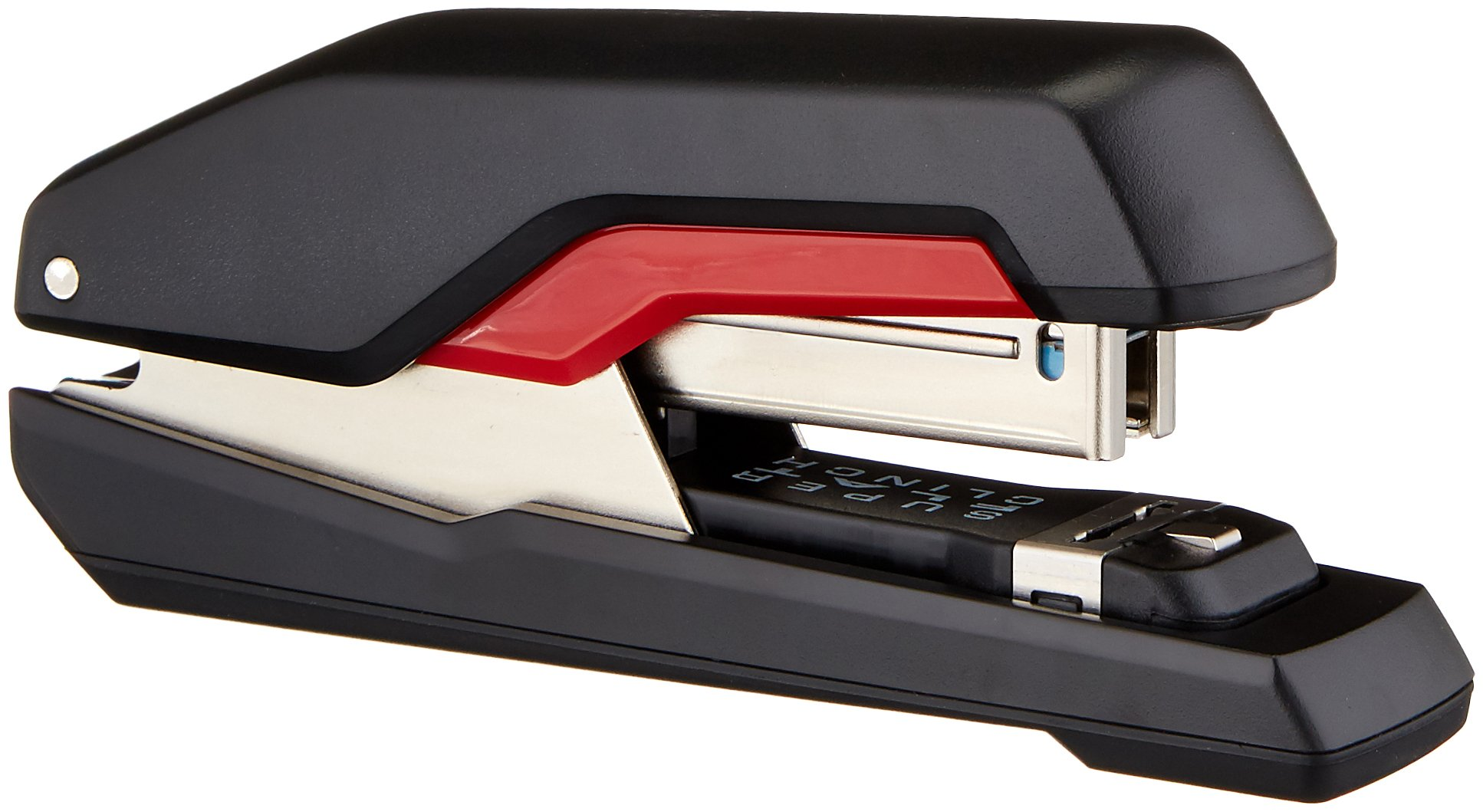 Xyron 5000599 Rapid Supreme SuperFlatClinch S50 Halfstrip Stapler, Black/Red