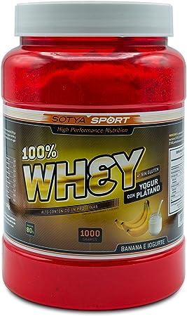 SOTYA Proteína Whey 100% Plátano con Yogurt 1 kg: Amazon.es ...