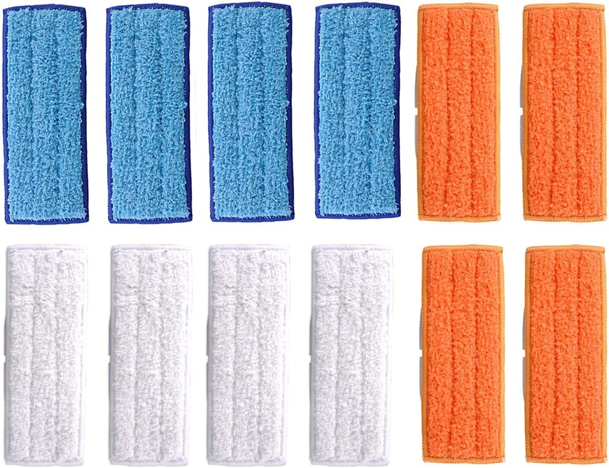 SODIAL 8 Pack Microfiber Wet Cloth Mopping Pads Washable Reusable Replacement for Braava Jet 240//241 Cleaner Robot