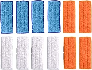Adouiry Washable Mopping Pads for IRobot Braava Jet 240 241 Sweeping Pads, Reusable Wet Damp Dry (12 PCS)