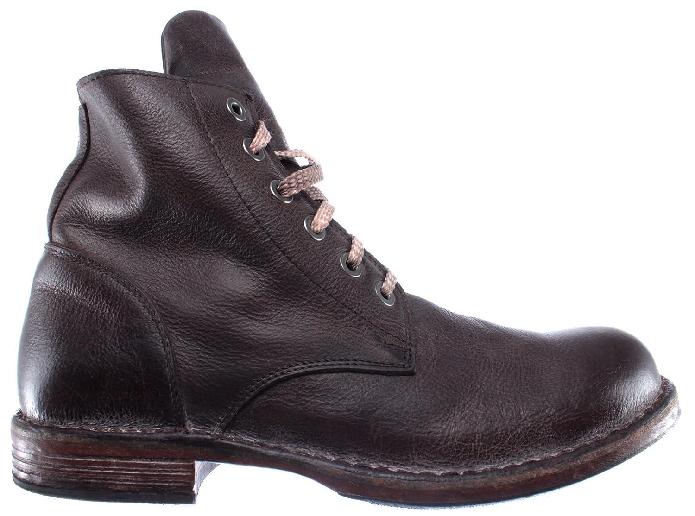 MOMA Herren Stiefel Boot Schuhe 67701 R2 Pelle Leder Braun Vintage Made in Italy