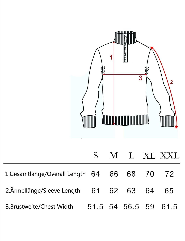 iClosam Herren Strickpullover Regular Fit Strick Pullover Mit Stehkragen Und Rei/ßverschluss Gr/ö/ße in S ~ XXXXL