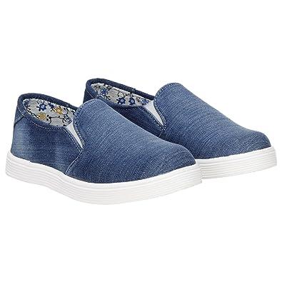 9c24c8015e334 MISTO VAGON Women's Denim Loafers Shoes