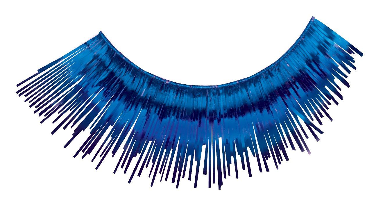 Loftus International Loftus Showgirl Flashy Tinsel Costume 2Pc Eyelashes One Size Novelty Item GEU0V 099996011657 Blue