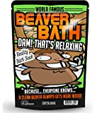Beaver Bath Soak – Pink Bath Salts Luxury Bath Funny Girlfriend Gifts For Best Friends Funny Bath Products Sea Salts Funny Spa Gifts for Women Naughty Gag Gifts Bachelorette Party Favors