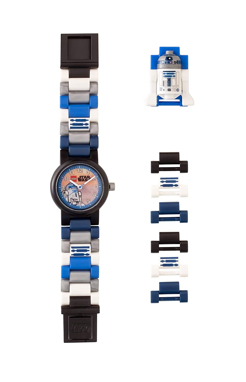 Amazon.com: LEGO Watches and Clocks Boys Star Wars R2D2 Quartz Plastic Casual watch, Color:Blue (Model: 8021490): Watches