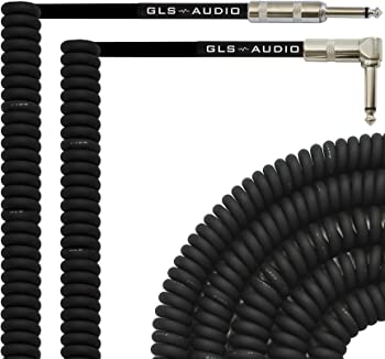 GLS Audio 30 Foot Curly Guitar Instrument Cable