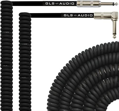 GLS Audio 20 Foot Curly Guitar Instrument Cable