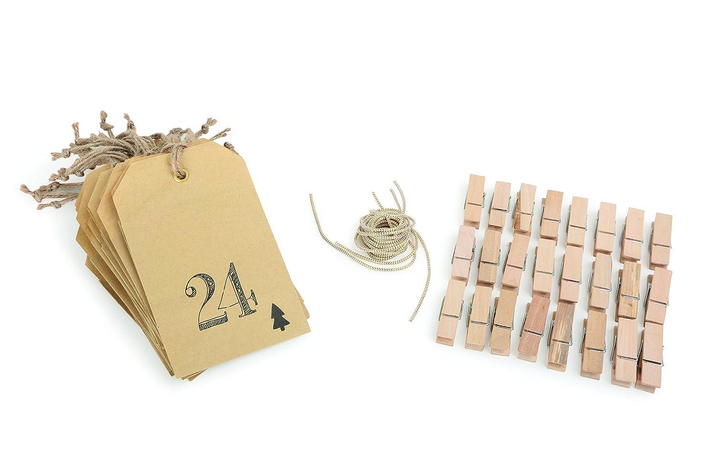 Legler Small Foot Calendrier de l'Avent Sachet en Papier, Bois, Nature, 15 x 9.5 x 0.2 cm Small foot company 1264