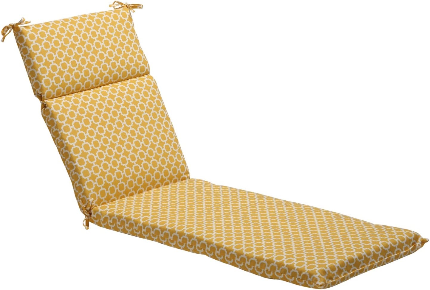 "Pillow Perfect Outdoor/Indoor Hockley Banana Chaise Lounge Cushion, 72.5"" x 21"", Yellow"