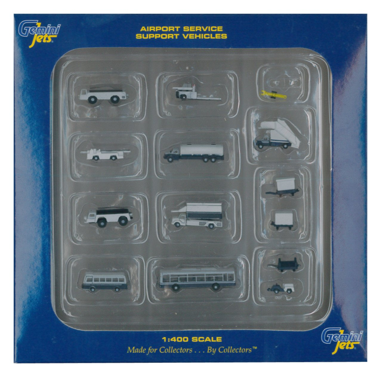 1:400 Scale 14-Piece ADI//GeminiJets GJARPTSETA Gemini Jets Ground Airport Service Support Vehicles Accessories