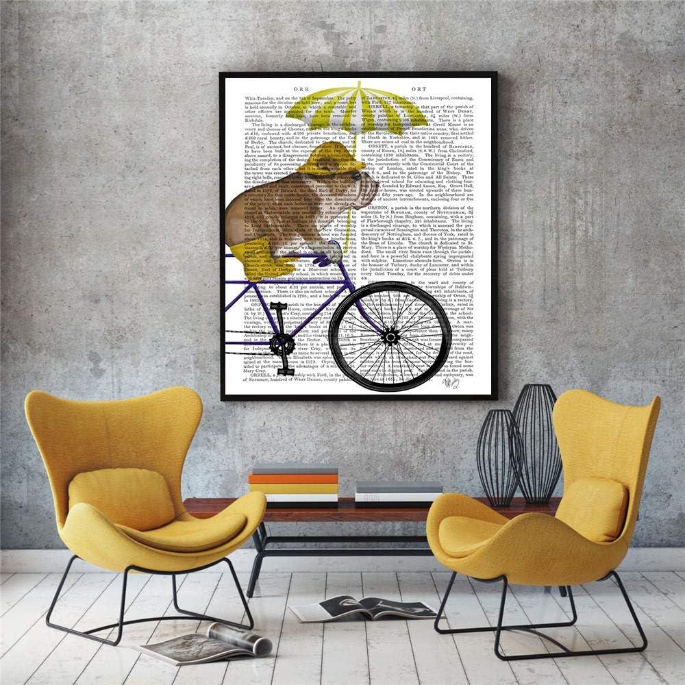 5D kit de pintura de diamantes Decoración e imprimible minimal baby room periódico perro de dibujos animados retro 40x50cm 5D Pintura de diamante DIY Cristal Rhinestone Punto de cruz Bordado Artes