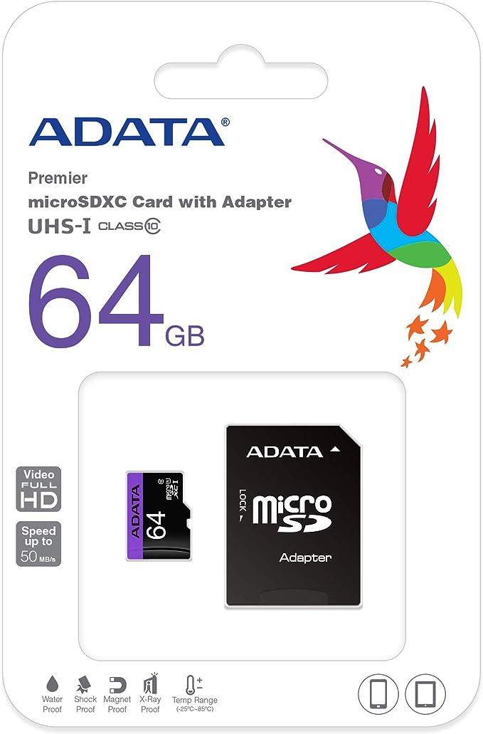 Adata Premier Microsd 64gb Speicherkarte Grau Computer Zubehör