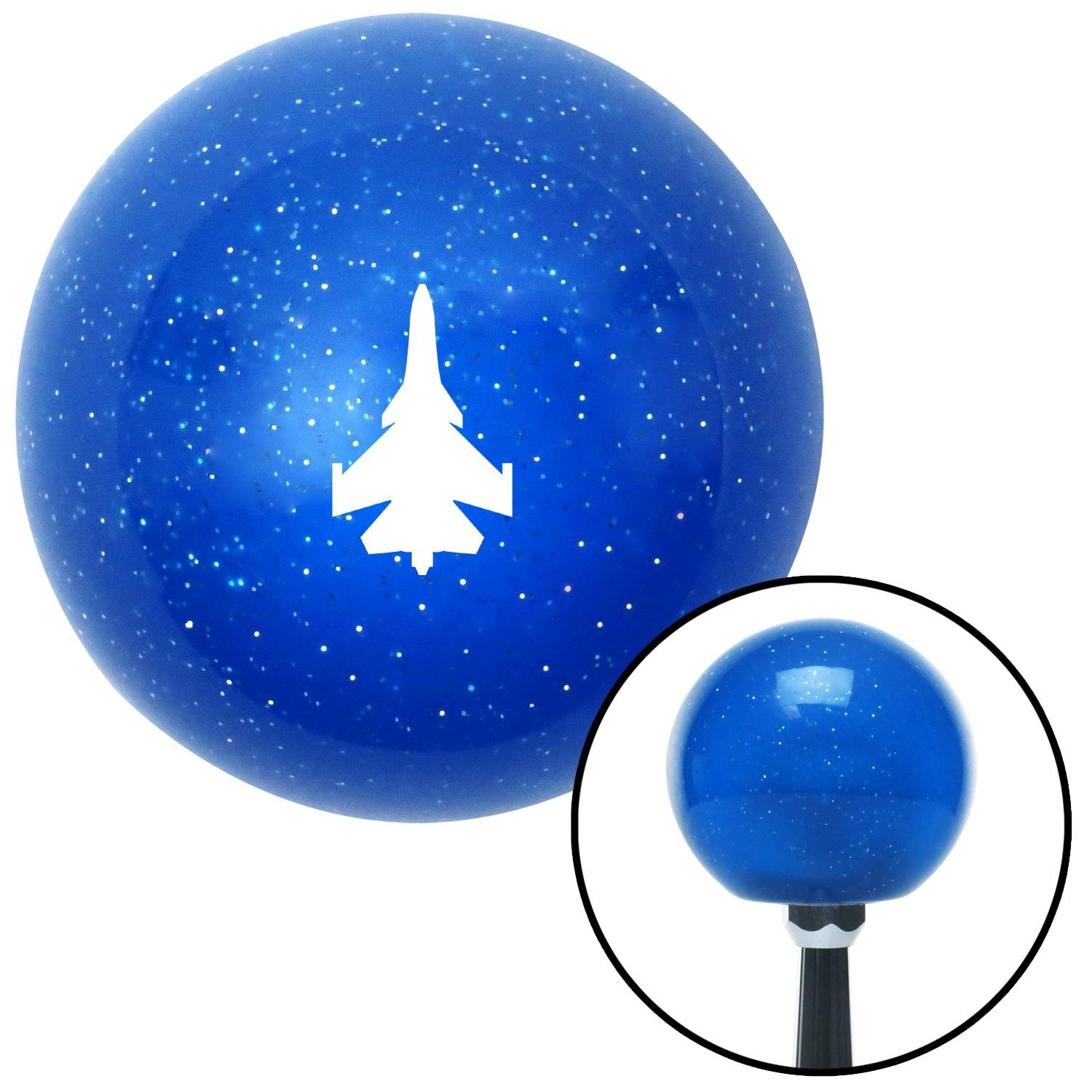 American Shifter 276362 Shift Knob White Jet Blue Metal Flake with M16 x 1.5 Insert