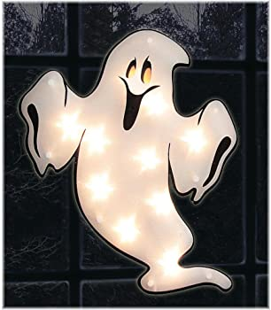 Impact Innovations Halloween Shimmer Lighted Window Ghost
