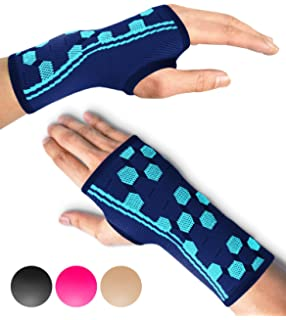 34f9048ca1 Sparthos Wrist Support Sleeves (Pair) – Medical Compression for Carpal  Tunnel and Wrist Pain