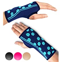 Sparthos Wrist Support Sleeves (Pair) – Medical Compression for Carpal Tunnel and...
